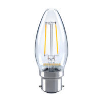 Sylvania 2.5W LED traditional candle light bulb B22 BC warm white 2700K