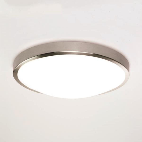 Astro Osaka 350 LED round bathroom ceiling wall light nickel 24W warm white IP44 Thumbnail 1