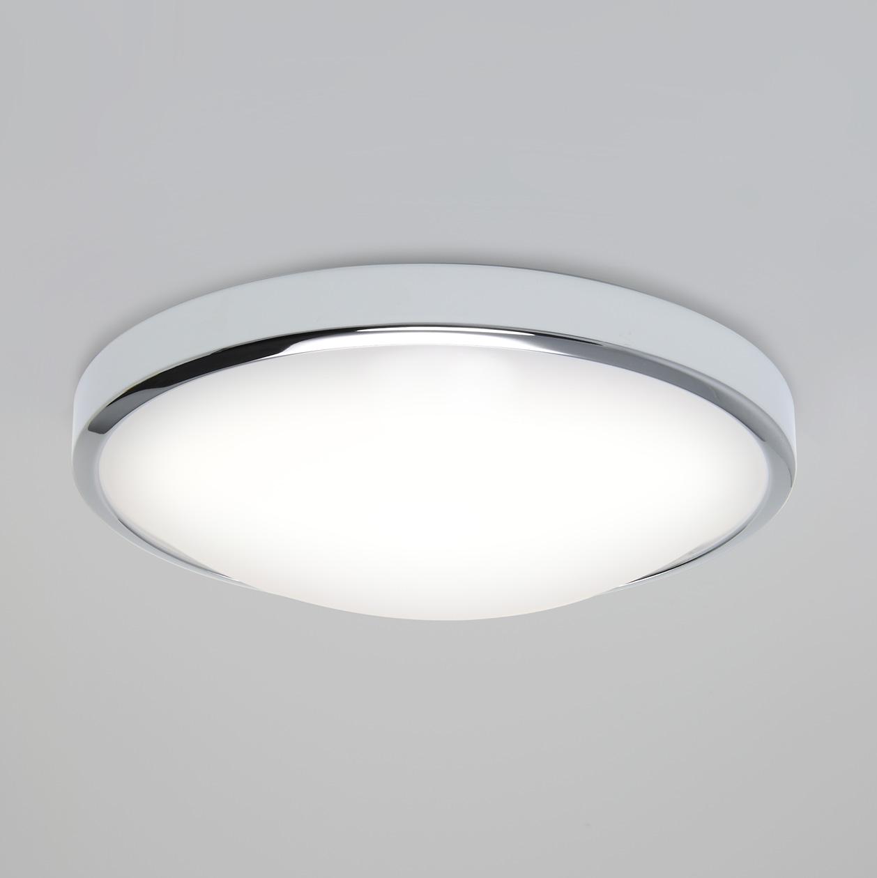 Astro Osaka 350 Microwave Pir Led Bathroom Ceiling Wall Light Chrome 24w Ip44 Liminaires