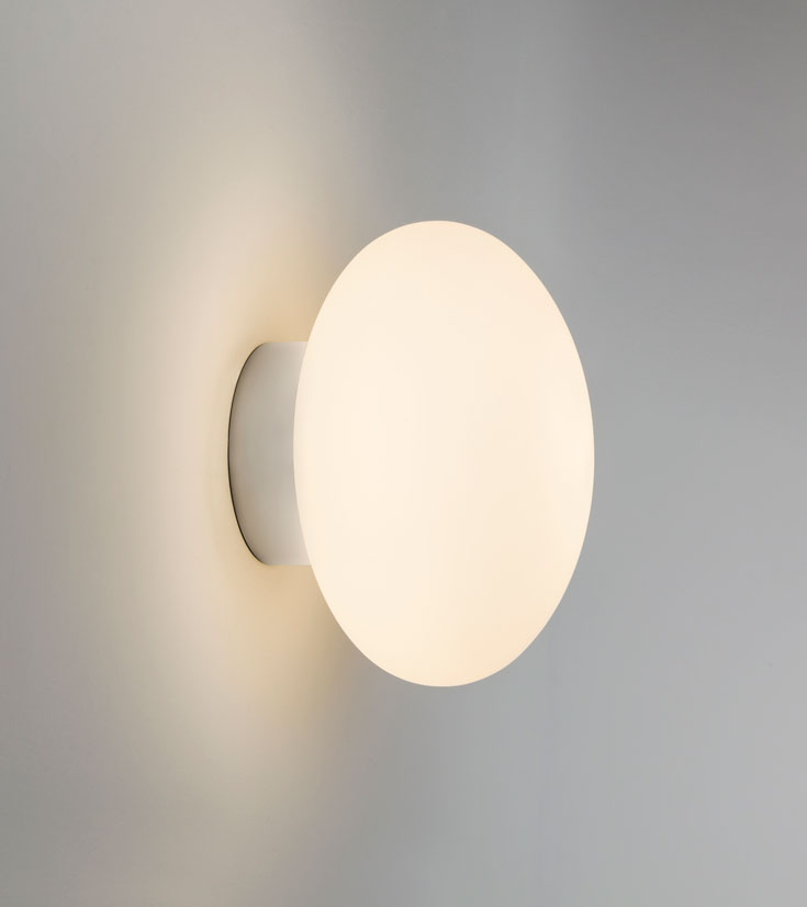 Astro Zeppo egg round wall bathroom halogen wall light 33W G9 IP44 chrome
