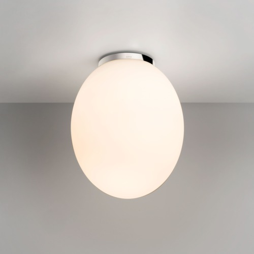 Astro Cortona bathroom glass egg shaped ceiling light 60W E27 IP44 chrome Thumbnail 1