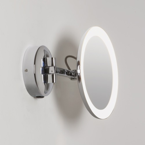 Astro Mascali x5 LED magnifying mirror round polished chrome 5.7W warm white Thumbnail 1