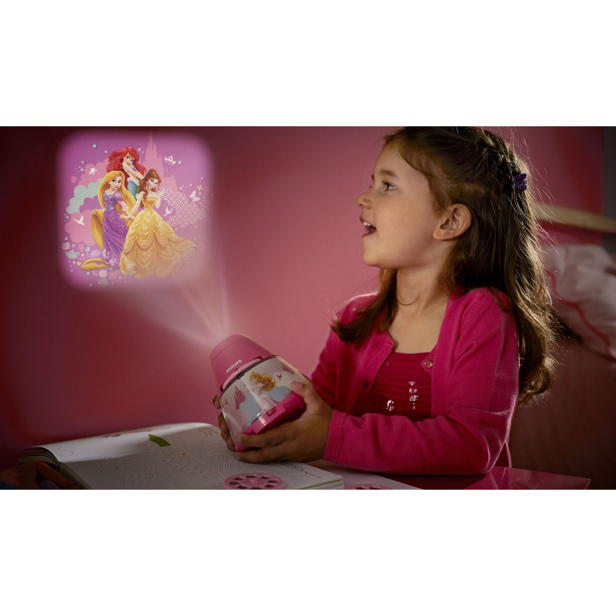 Philips Disney Princess children's LED night light projector portable battery Thumbnail 2