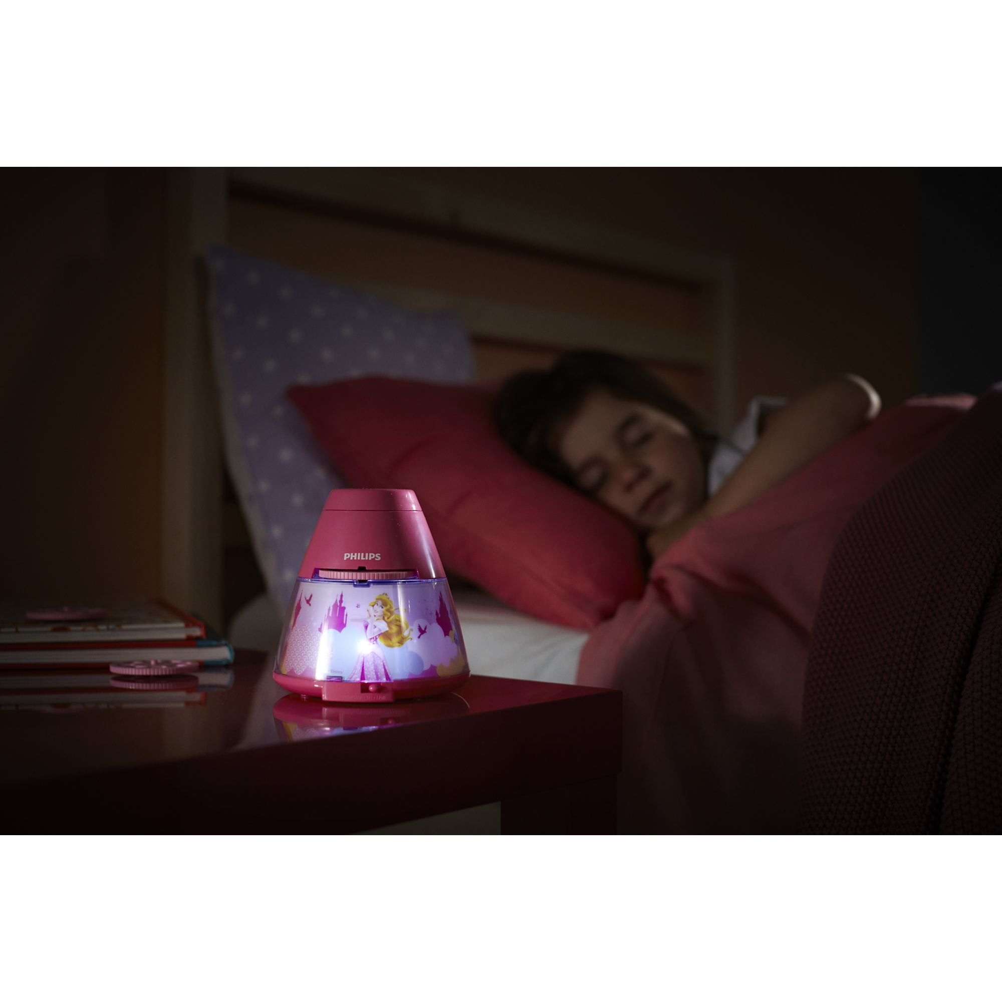 Philips Disney Princess children's LED night light projector portable battery Thumbnail 3