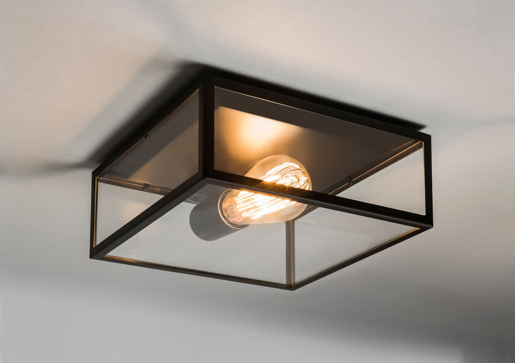 official photos 838bb 618eb Details about Astro Bronte IP23 outdoor external ceiling light 60W E27  black (no bulb)