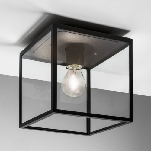 new style c20cc 04e94 Details about Astro Box IP23 outdoor external ceiling light 60W E27 black  (no bulb)