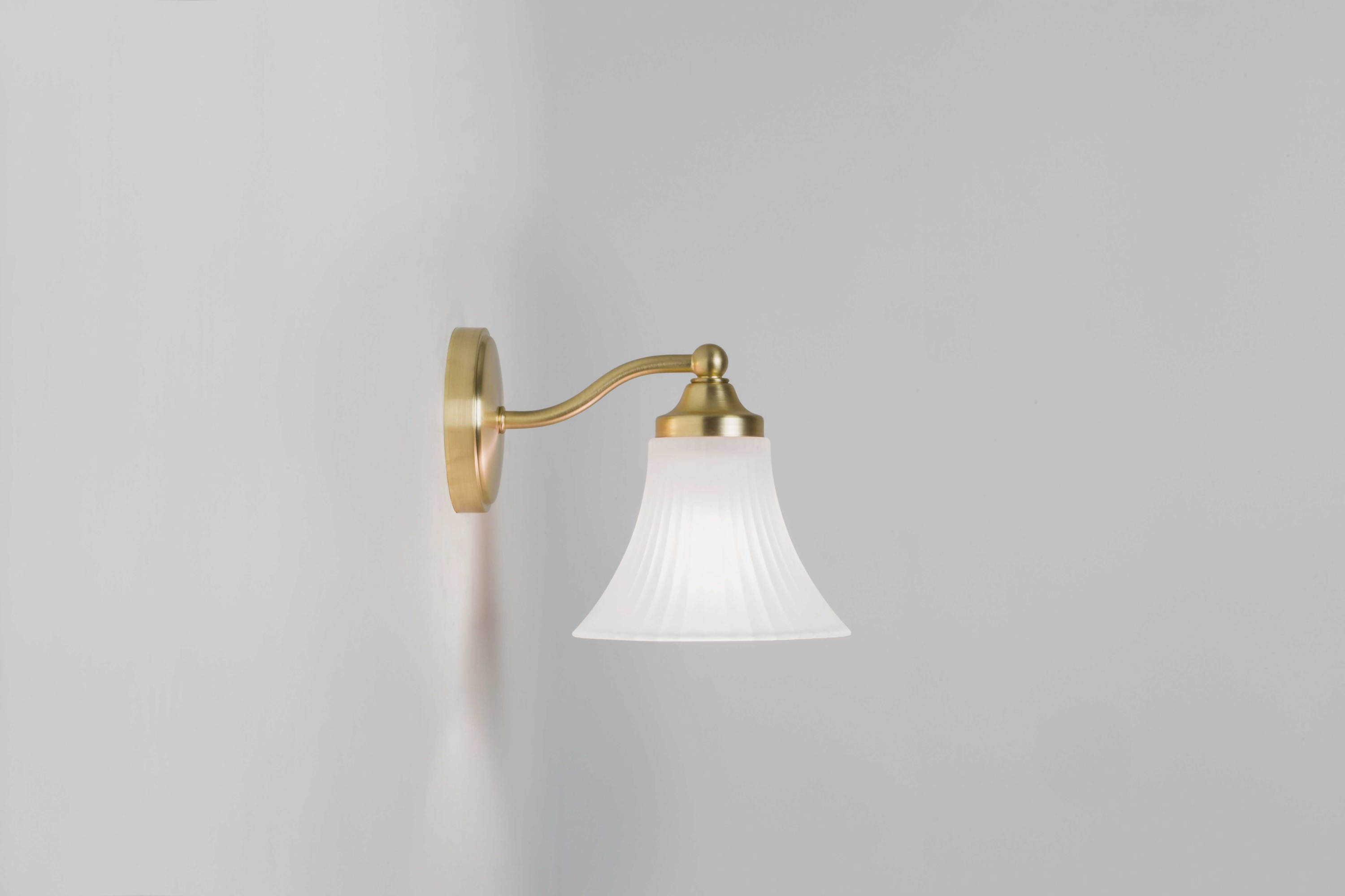 Astro Nena matt gold bell shaped bathroom wall light 1 x 40W G9 IP44