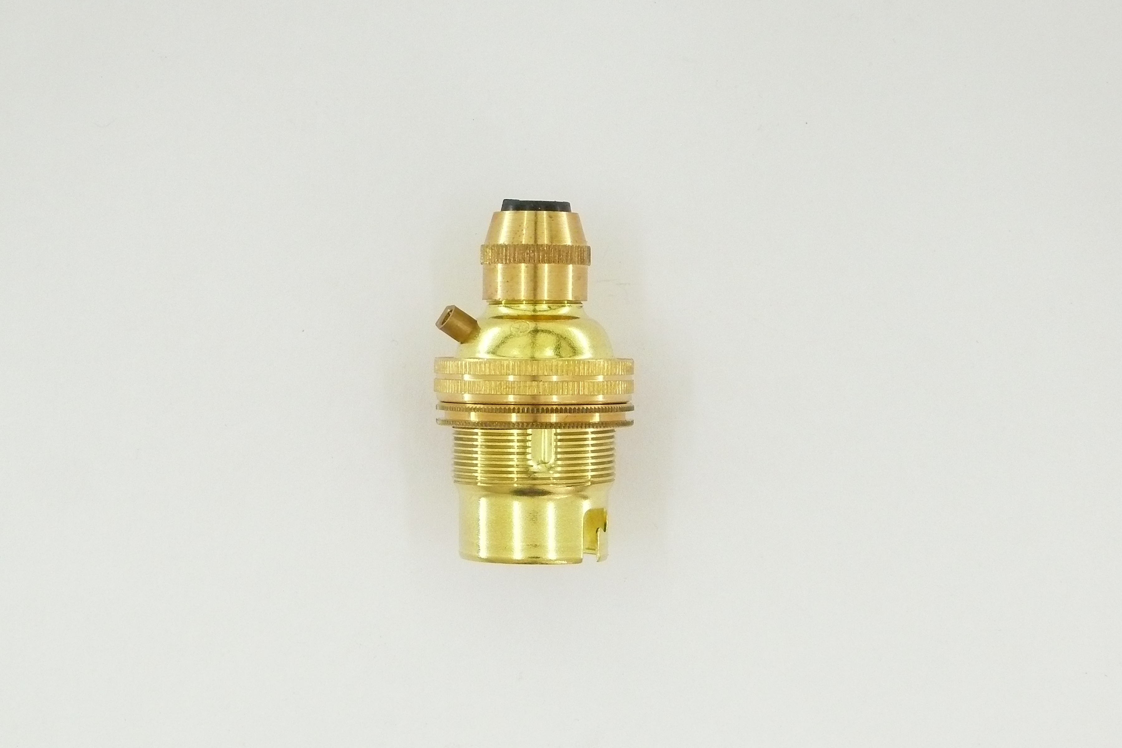 Brass bayonet lampholder cord grip suitable for pendant braided cable BC B22 Thumbnail 1