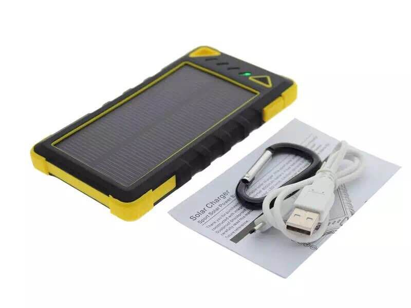 Currency detector function! 20 LED lights real 8000mAh Solar power bank Thumbnail 2