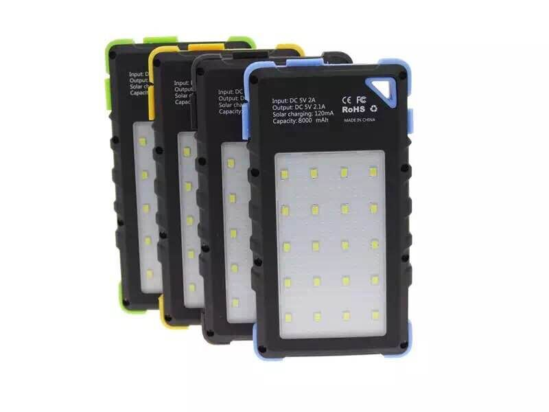 Currency detector function! 20 LED lights real 8000mAh Solar power bank Thumbnail 1