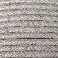 10m 3 core 0.75mm round natural braided vintage linen fabric flex cable
