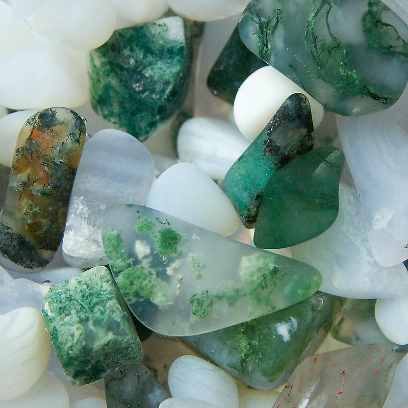 VitaJuwel ViA Momentum glass drinking bottle (chalcedony-moss agate-milk opal) Thumbnail 3