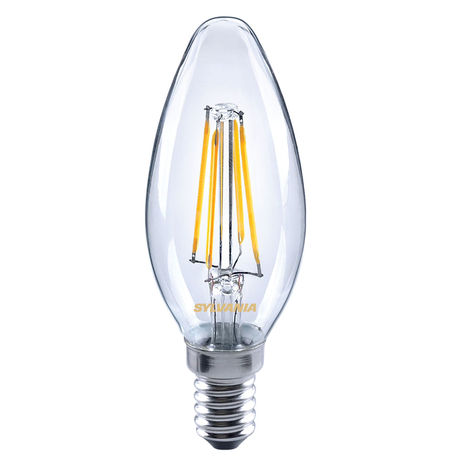 Sylvania 4.4W = 40W 470lm LED traditional candle light bulb E14 SES warm white Thumbnail 1