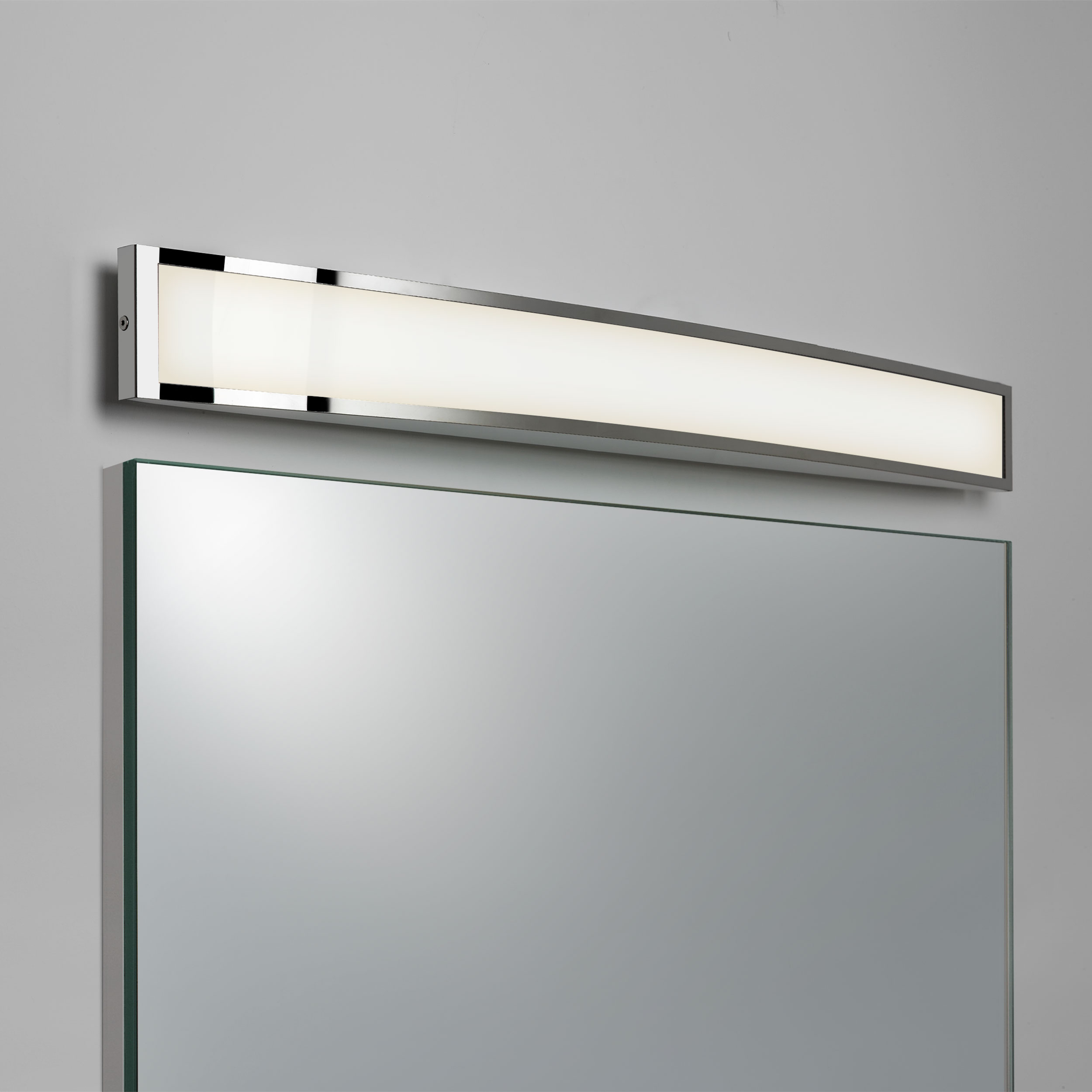 Astro Chord  bathroom warm white LED over mirror wall light 7.2W Polished chrome
