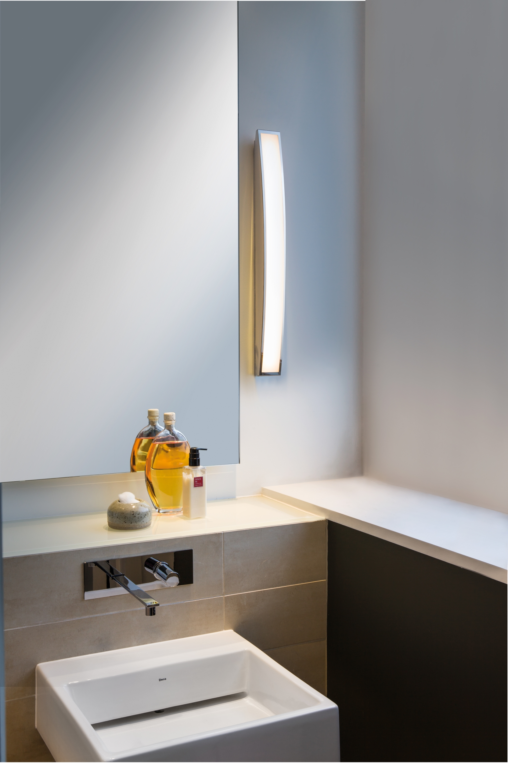 Astro Chord  bathroom warm white LED over mirror wall light 7.2W Polished chrome Thumbnail 2
