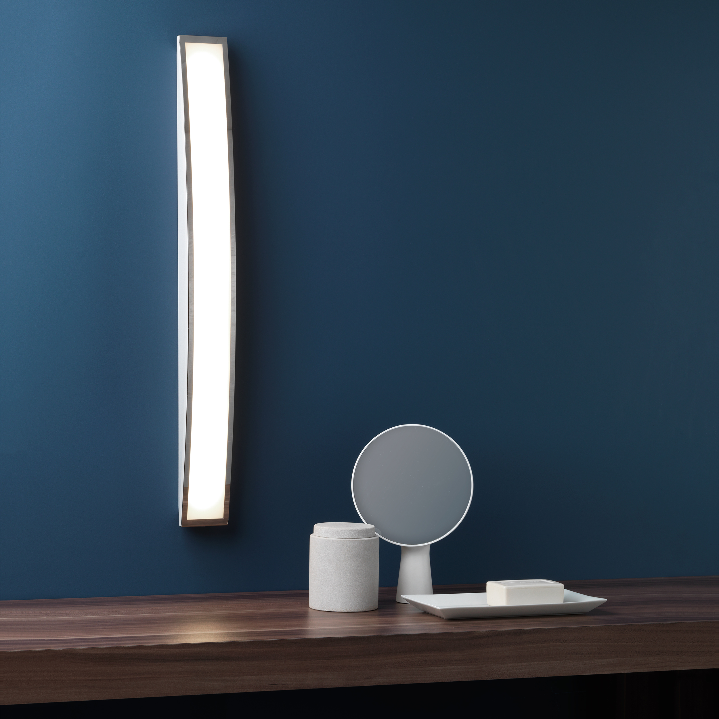 Astro Chord  bathroom warm white LED over mirror wall light 7.2W Polished chrome Thumbnail 3