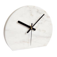 Endon Davenport mantel desk clock white marble H: 170mm  W: 200mm  D: 30mm