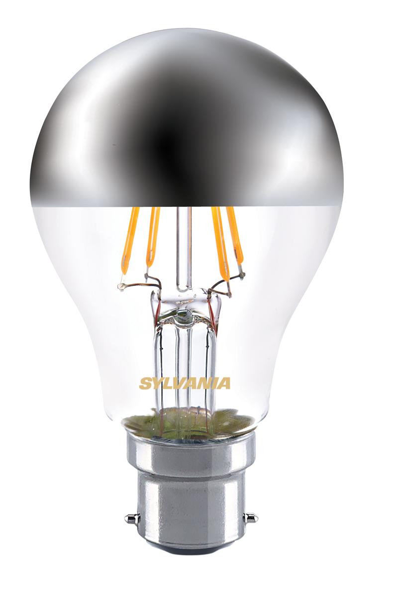 Sylvania Crown Silver A60 Mirror Light Bulb 4w B22 Bc Led