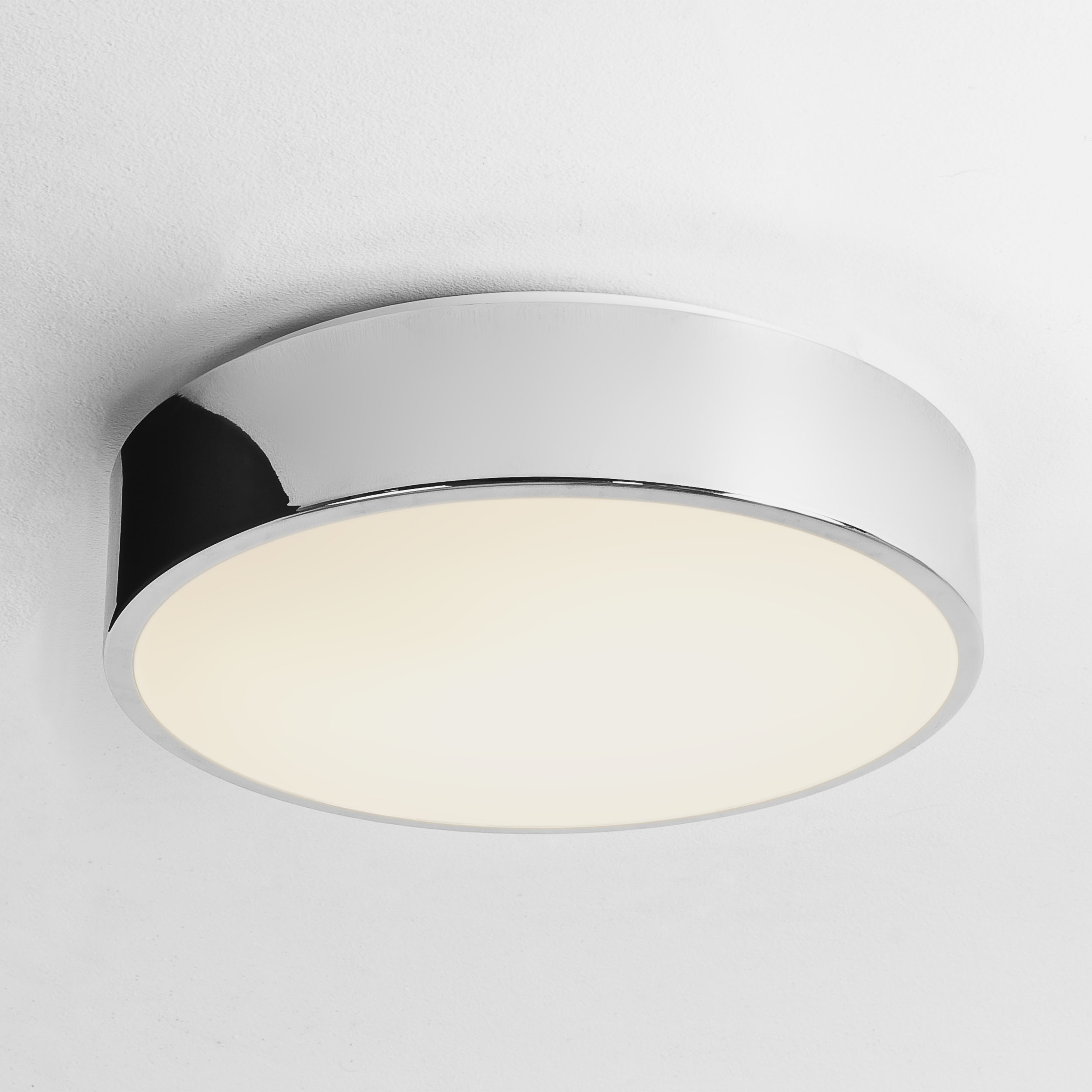 Astro Mallon LED round bathroom ceiling light 16W polished chrome IP44 330mm Thumbnail 1