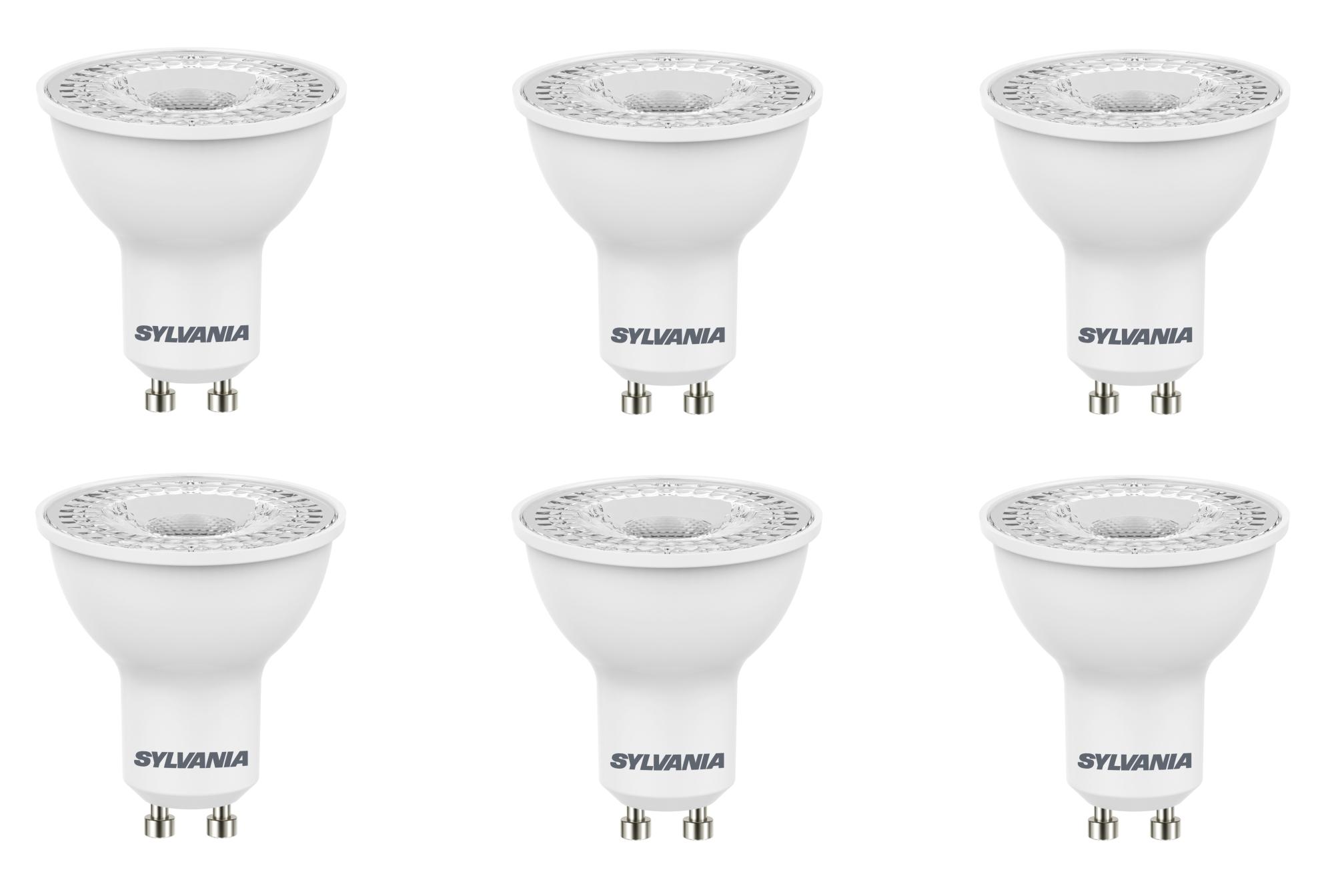 6x Sylvania Refled Es50 V4 5w Gu10 Led Dimmable Light Bulb Lamp 840 Cool White 5410288284422 Ebay