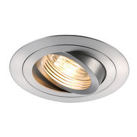 Intalite NEW TRIA GU10 ROUND downlight, alu brushed, 50W