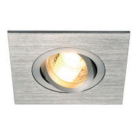 Intalite NEW TRIA XL SQUARE GU10 downlight, alu brushed, 50W