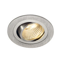 Intalite NEW TRIA LED DL ROUND SET, downlight, alu brushed,6W,38