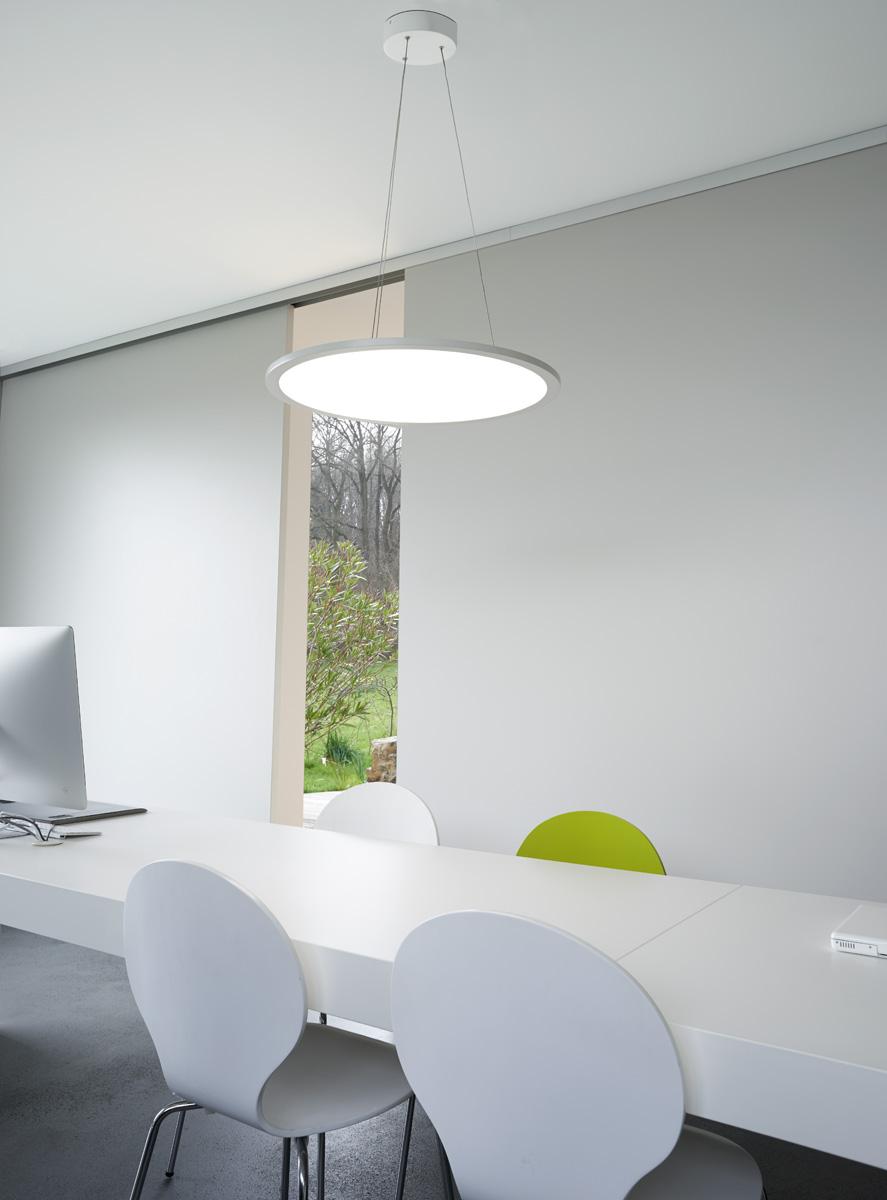 intalite panneau led rond pendentif blanc mat 338 led 40w variation 4000k ebay. Black Bedroom Furniture Sets. Home Design Ideas