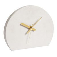 Endon Reynolds mantel clock polished sandstone H: 170mm  W: 205mm  D: 38mm