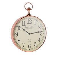 Endon Armstrong wall clock shiny copper plate Dia: 400mm  Proj: 75mm