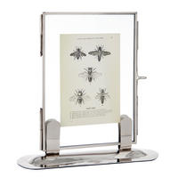"Endon Langton 7"" x 5"" photo frame Polished nickel H: 210mm W: 200mm D: 65mm"