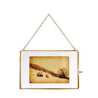 "Endon Portis 8"" x 12"" photo frame Aged brass effect H: 200mm W: 300mm D: 8mm"