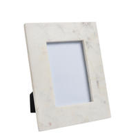 "Endon Davenport 6"" x 4"" photo frame White marble H: 230mm W: 180mm D: 15mm"