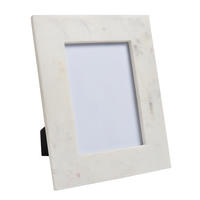 "Endon Davenport 7"" x 5"" photo frame White marble H: 253mm W: 215mm D: 15mm"