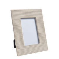 "Endon Reynolds 6"" x 4"" photo frame Ribbed sandstone H: 255mm W: 203mm D: 18mm"