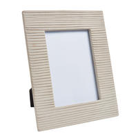 "Endon Reynolds 7"" x 5"" photo frame Ribbed sandstone H: 230mm W: 178mm D: 18mm"