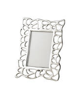 "Endon Pablo 6"" x 4"" photo frame Polished nickel H: 235mm  W: 180mm  D: 15mm"