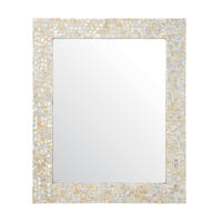 Endon Bexley rectangular Mirror Mother of pearl H: 740mm W: 610mm Proj: 20mm
