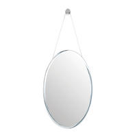 Endon Cooper oval mirror Mirrored glass H: 615mm W: 385mm Proj: 5mm