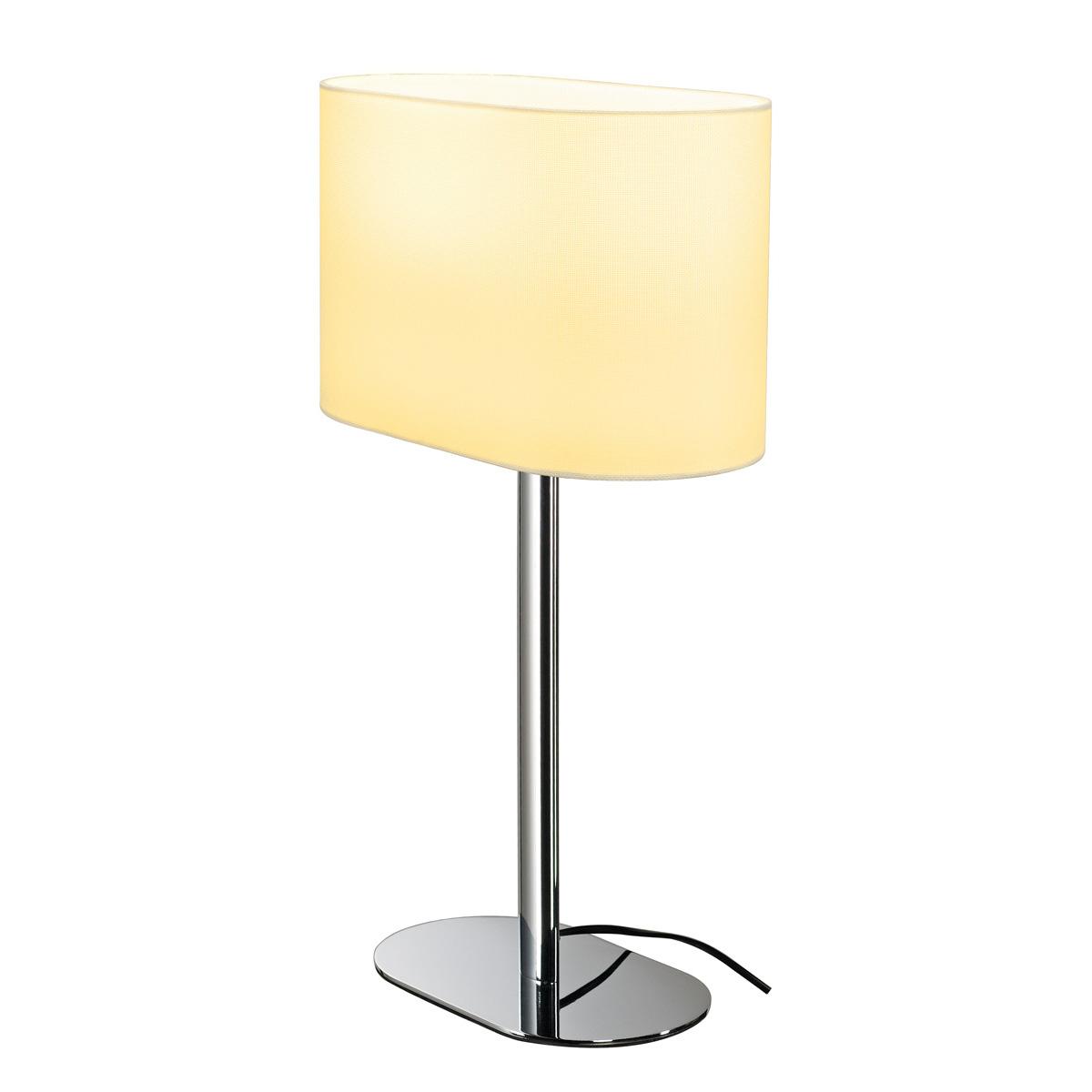 Intalite SOPRANA OVAL Table Lamp, TL 1, White Textile, E27, 60W