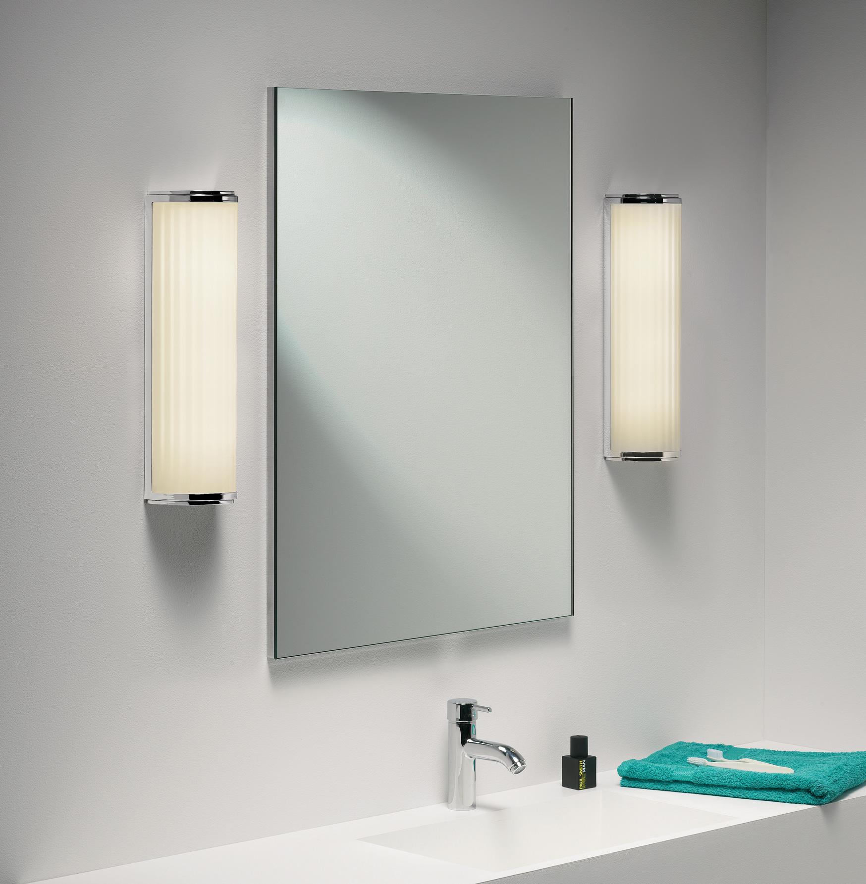 Sentinel Monza Plus 400 0915 Bathroom Wall Light Chrome Gl 1 X 24w 2g11 Ip44