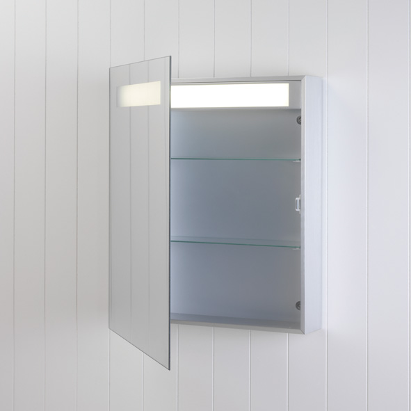 Astro Modena 0349 deluxe low energy illuminated mirror cabinet 15W T8 Thumbnail 2