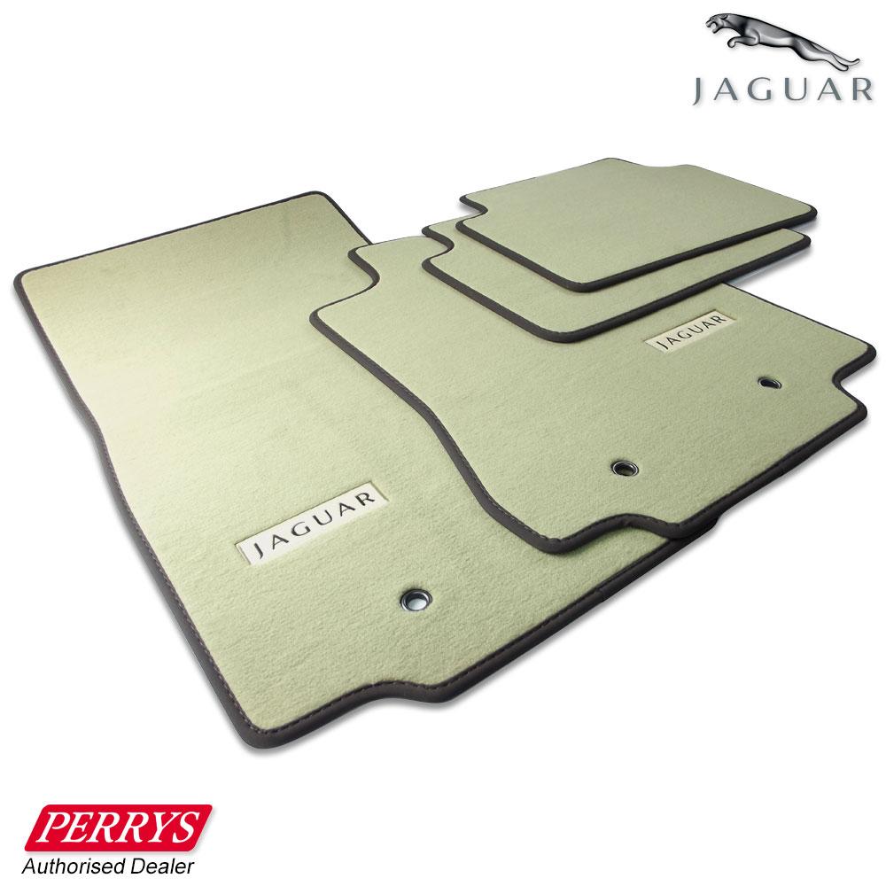 Rubber floor mats for jaguar xf - Jaguar Xf Saloon Barley Truffle Premium Carpet Front Rear Car Mats Genuine