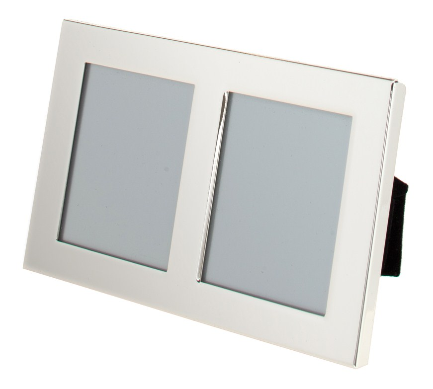Silver Plated Double Picture Photo Frame 3.5\