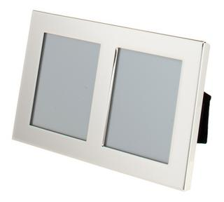 "Silver Plated Double Picture Photo Frame 3.5"" X 5"", 4"" X 6"", 5"" X 7"", 6"" X 8"", 8""x10"" Thumbnail 2"