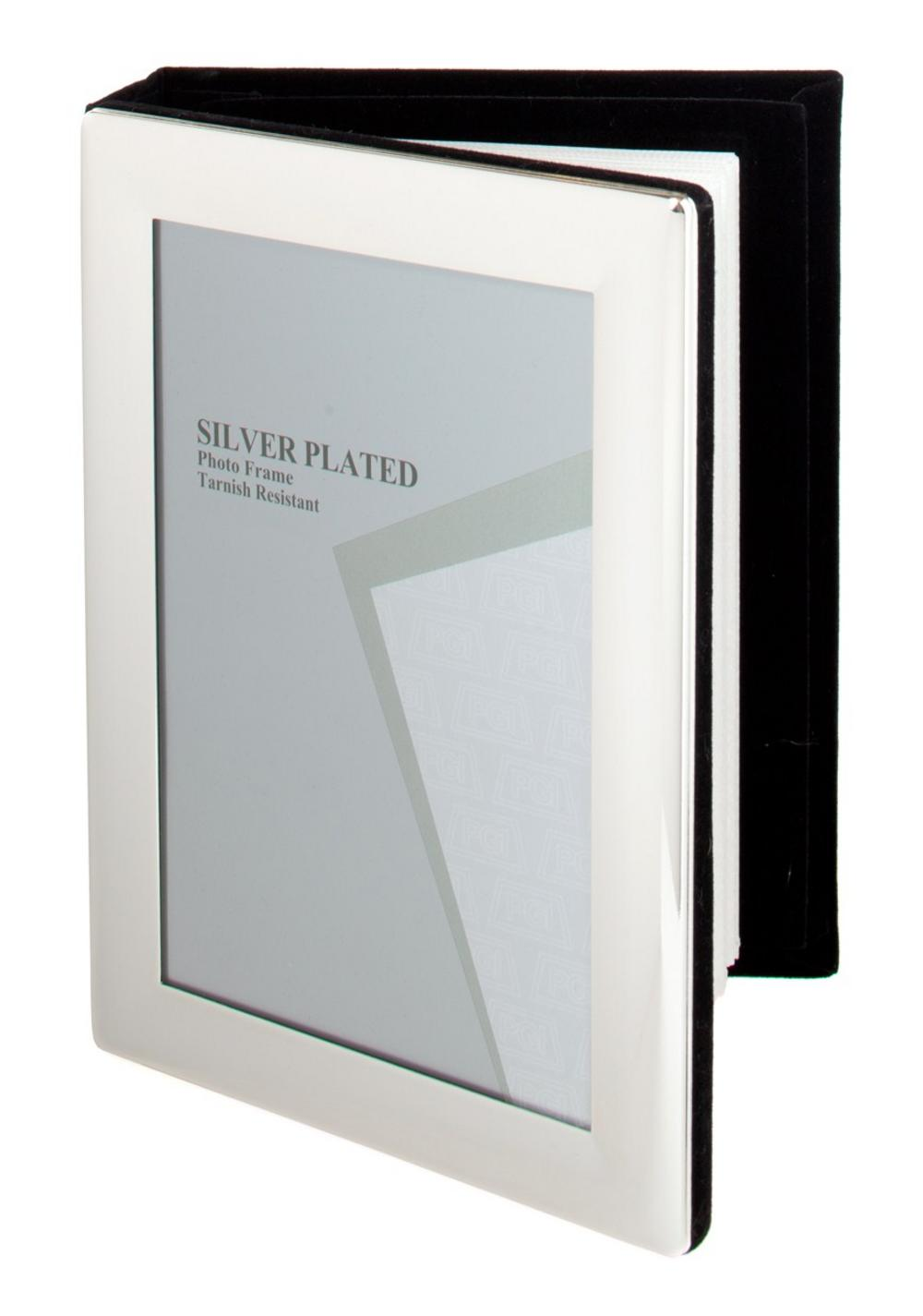 "Silver Plated Picture Photo Frame Album 4"" X 6"", 5"" X 7"" By Unity"