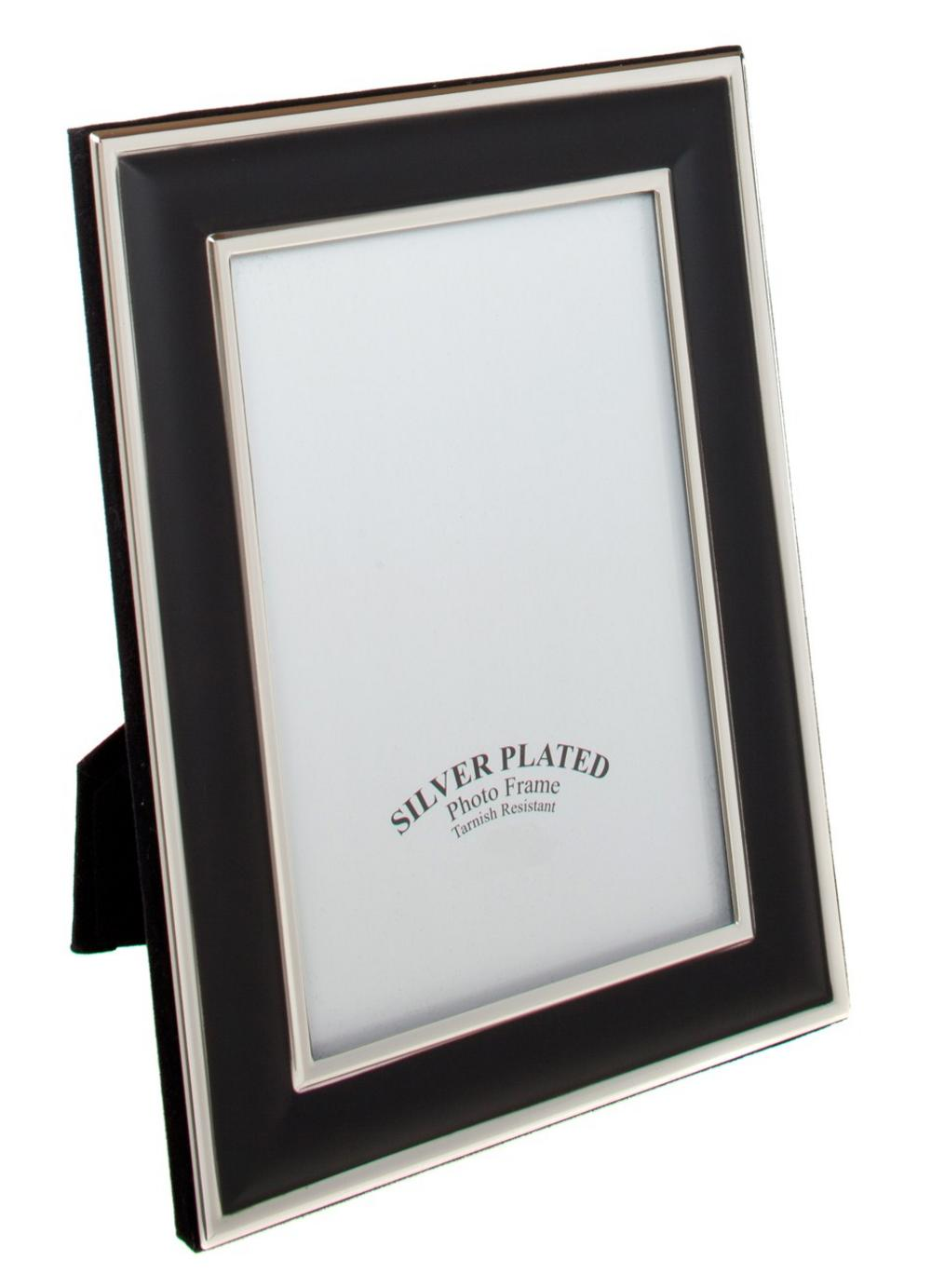 "Silver Plated Black Picture Photo Frame 4"" X 6"" 5"" X 7"" 6"" X 8"" 8"" X 10"" Unity"