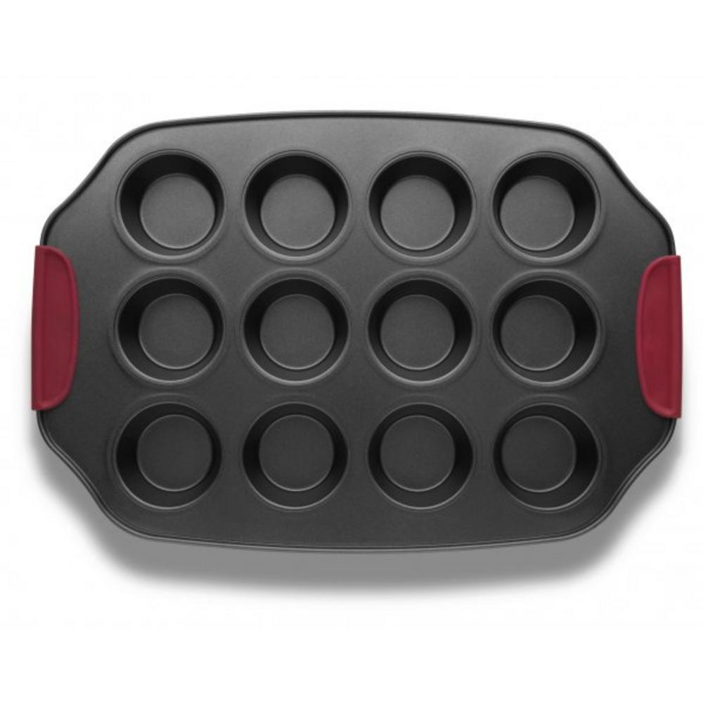 Twelve Muffin Baking Tray with Silicone Grips
