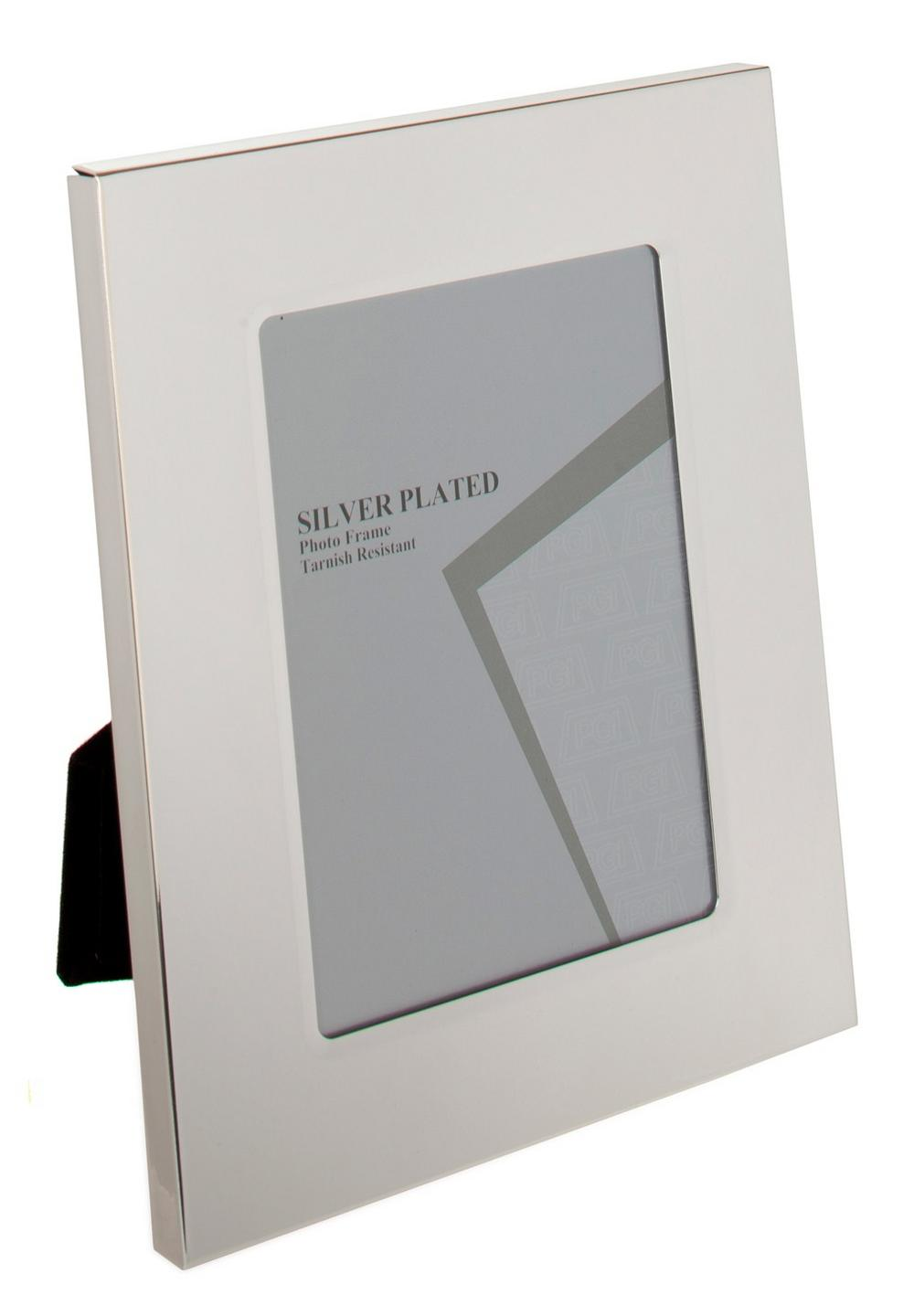"""Silver Plated Picture Photo Broad Edge Frame 8""""X10"""""""