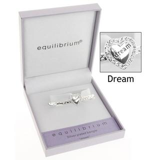 Equilibrium Silver Plated Diamante Dream Bangle In Gift Box - Ideal Gift Thumbnail 1